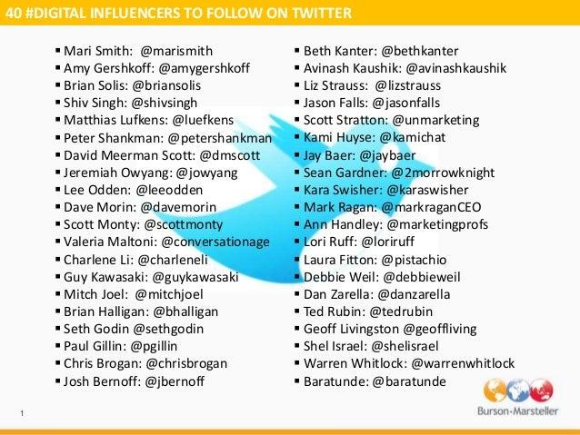 40 digital influencers on twitter