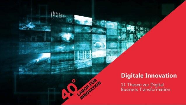 Digitale Innovation 11 Thesen zur Digital Business Transformation