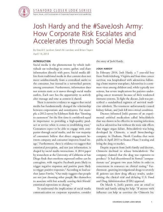 Topics, Issues, and Controversies in Corporate Governance and Leadership S T A N F O R D C L O S E R L O O K S E R I E S s...