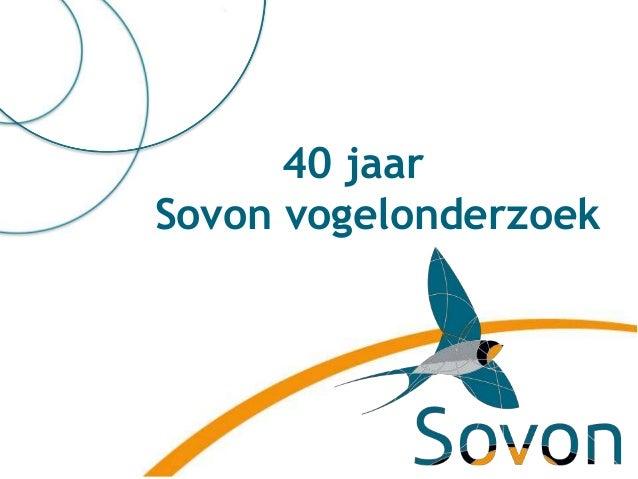 40 jaar Sovon & lustrumquiz - Arend van Dijk