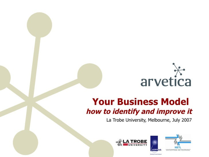 Your Business Model  how to identify and improve it La Trobe University, Melbourne, July 2007