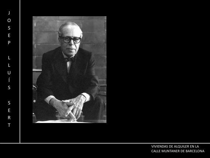 JOSEP LLUÍS SERT<br />VIVIENDAS DE ALQUILER EN LA CALLE MUNTANER DE BARCELONA<br />