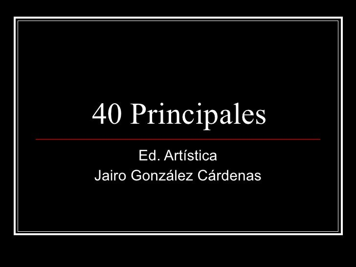 40 principales annie
