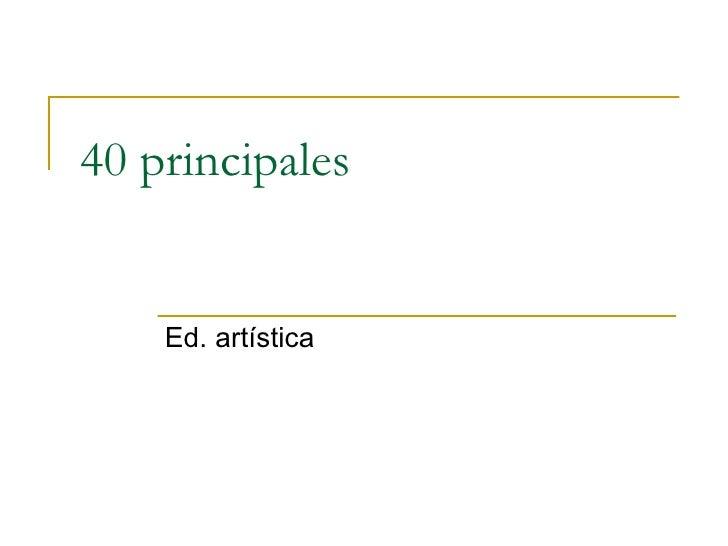 40 Principales Picasso