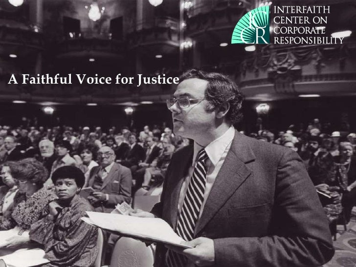 A Faithful Voice for Justice . .
