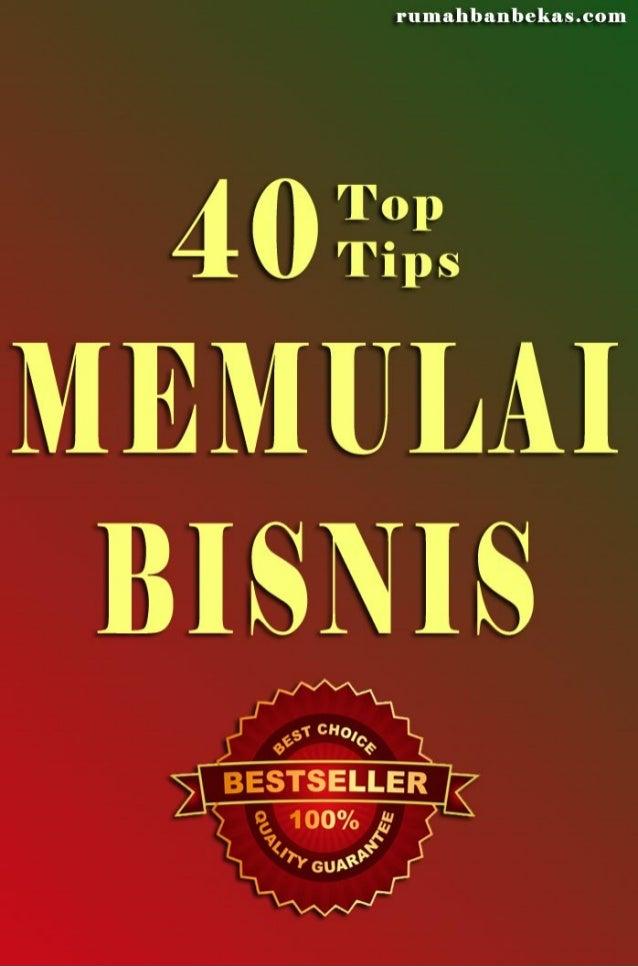 40 tips memulai bisnis