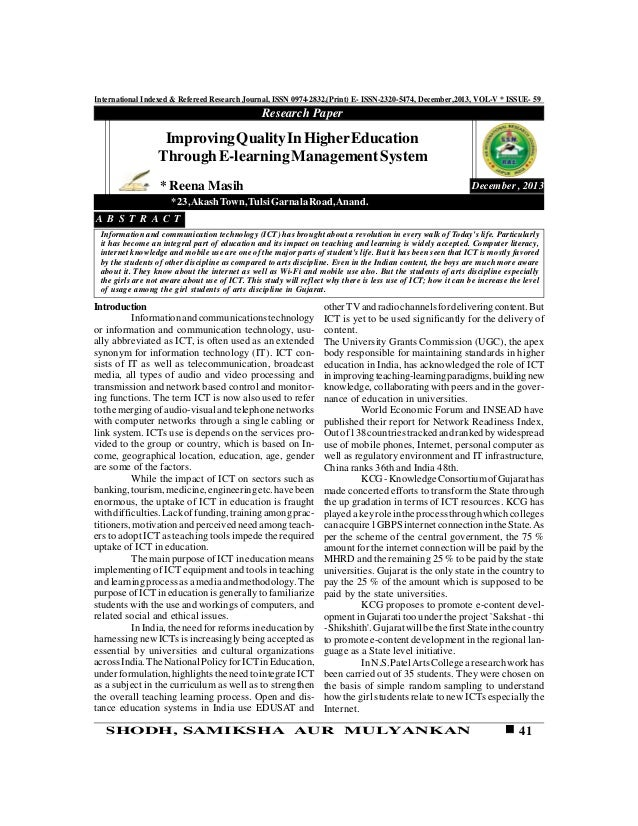 41SHODH, SAMIKSHA AUR MULYANKAN International Indexed & Refereed Research Journal, ISSN 0974-2832,(Print) E- ISSN-2320-547...
