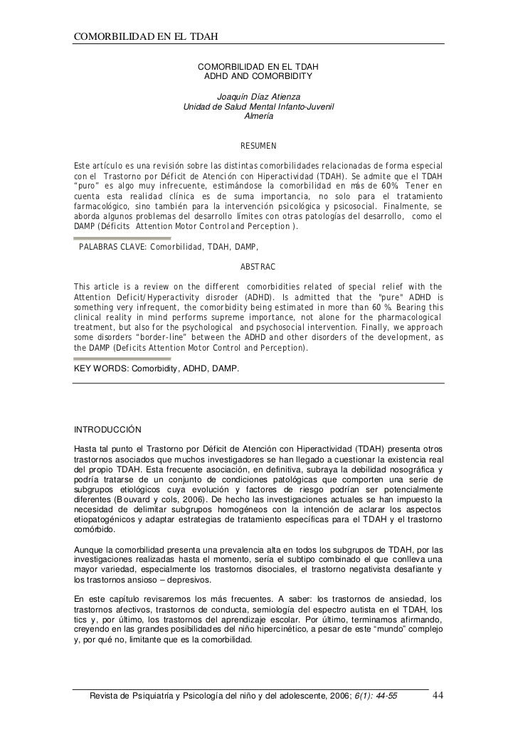 COMORBILIDAD EN EL TDAH                                COMORBILIDAD EN EL TDAH                                 ADHD AND CO...