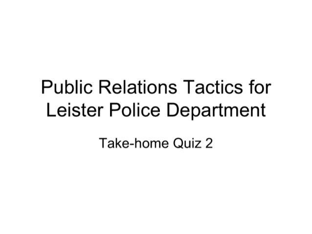 410 Public Relations Tactics