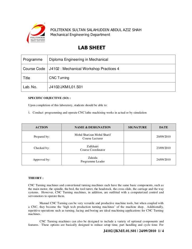 J4102 LABSHEET CNC TURNING