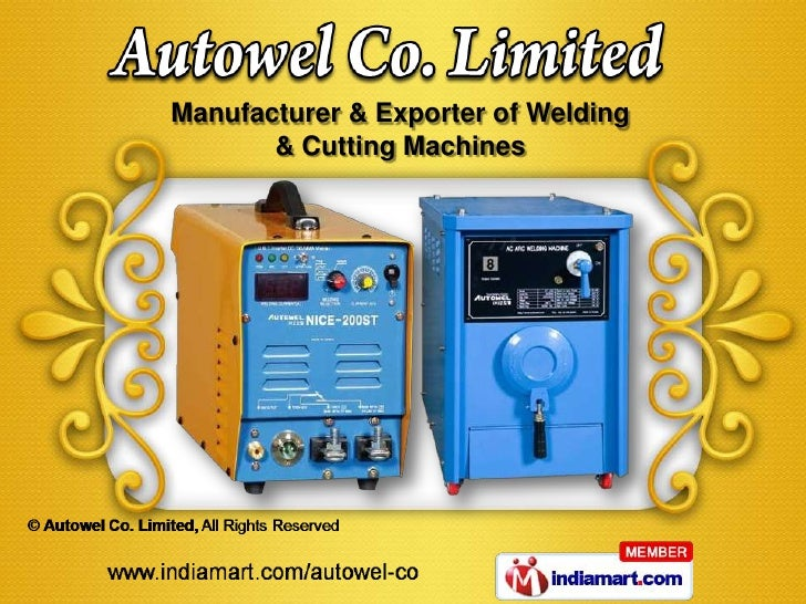 Manufacturer & Exporter of Welding       & Cutting Machines