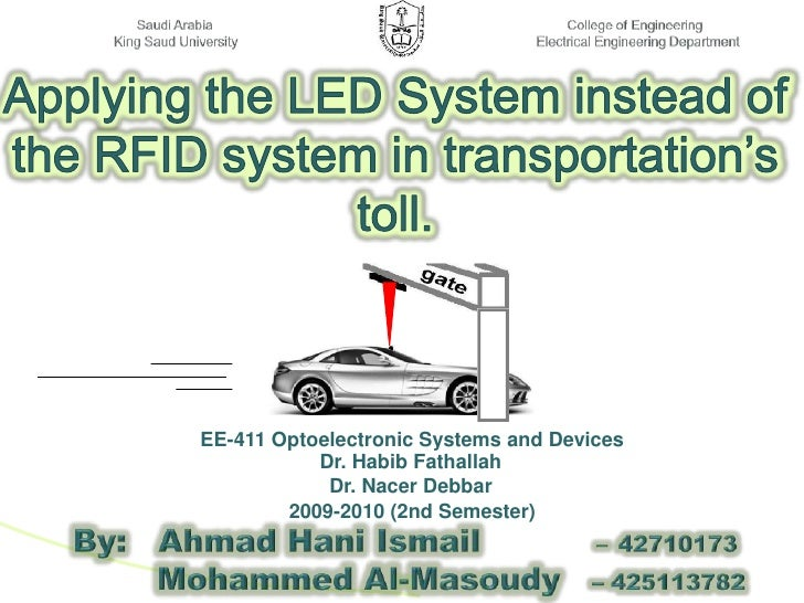 Applying The LED System instead Of The RFID System In Transportations Toll