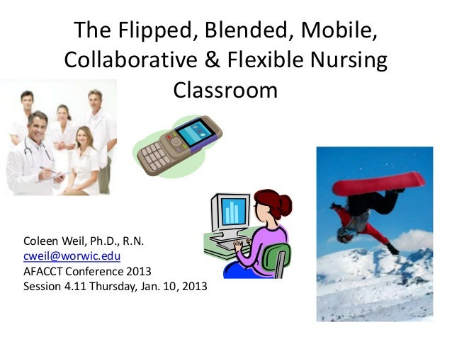 The Flipped, Blended, Mobile,Collaborative & Flexible NursingClassroomColeen Weil, Ph.D., R.N.cweil@worwic.eduAFACCT Confe...