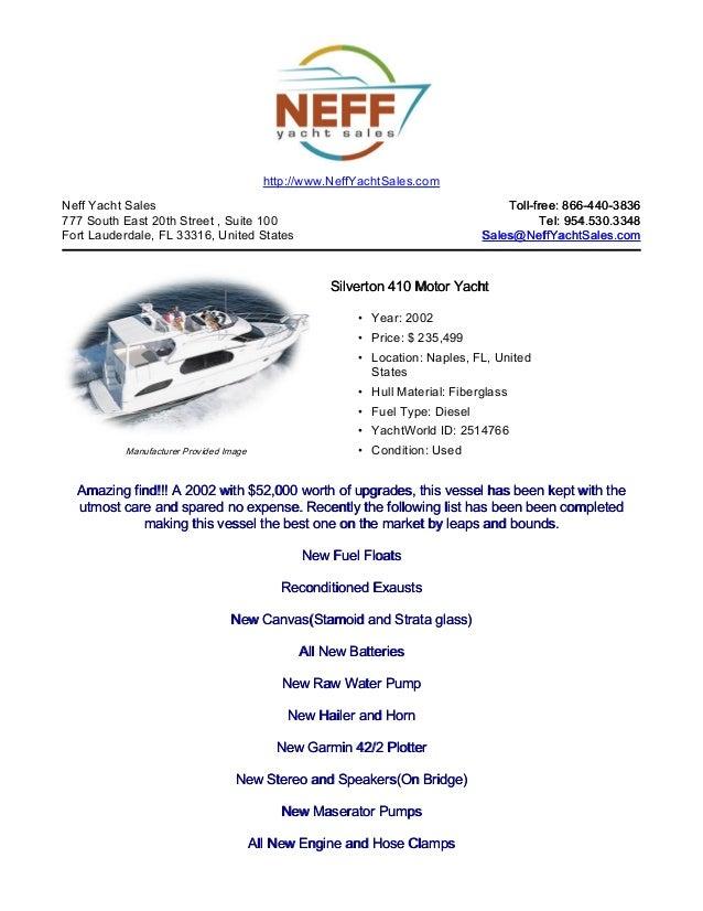 41' 2002 silverton 410 motor yacht for sale   neff yacht sales
