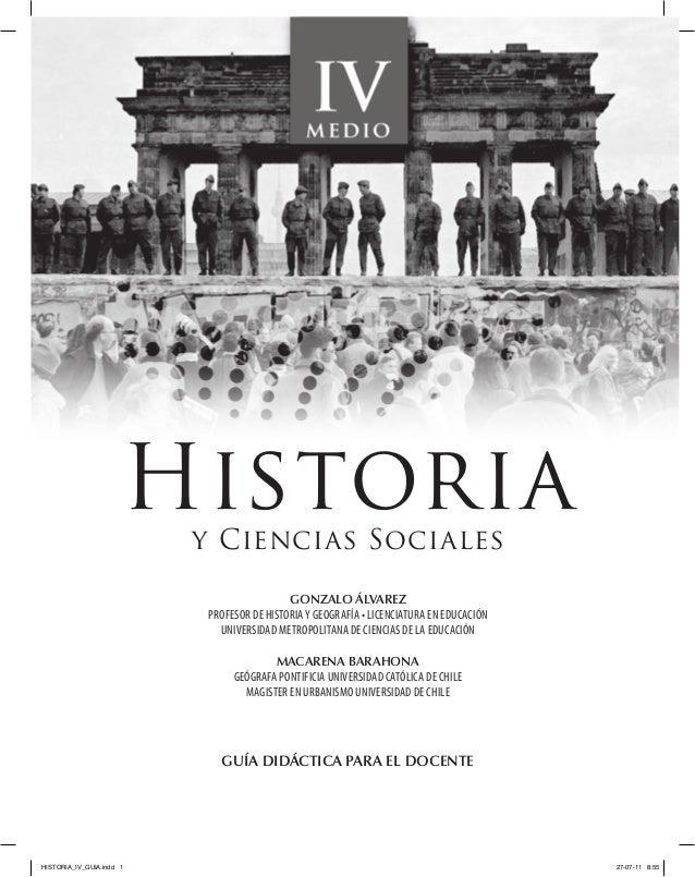 Historia                          y Ciencias Sociales                                           Gonzalo Álvarez           ...