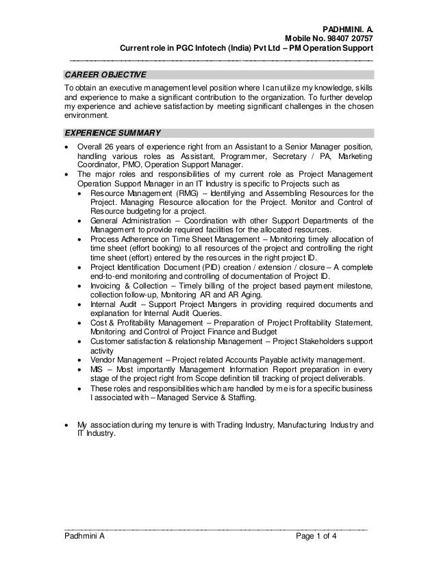 padhmini a updated resume may16