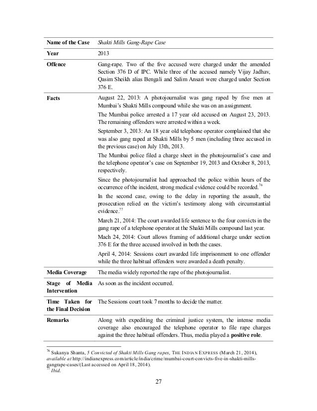 Dissertation on rape