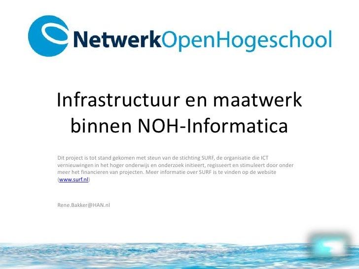 415 Infrastructuur En Maatwerk Binnen De Noh I. Rene Bakker