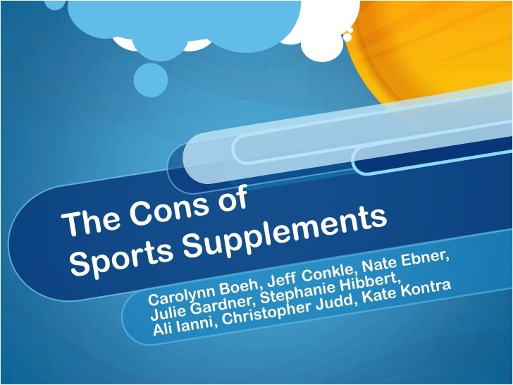 An Overview of Sports SupplementsType of dietary supplement used to enhance athleticperformanceCan include vitamins, miner...