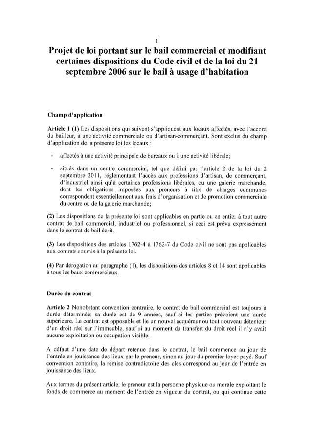 L'avant-projet de loi sur le bail commercial au Luxembourg