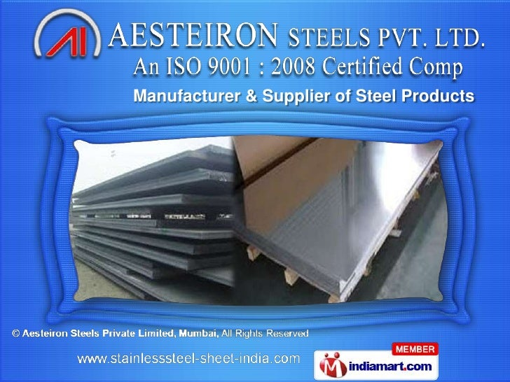 Manufacturer & Supplier of Steel Products