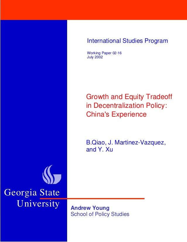 University                      International Studies Program                      Working Paper 02-16                    ...