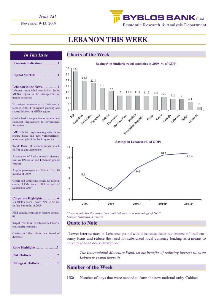 Issue 142        November 9-13, 2009                                                                      Economic Researc...