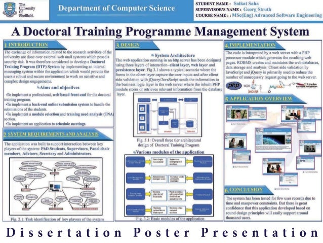 dissertation poster presentations Graduate education officer graduate research school  advice on designing scientific posters and link to a poster  effective poster presentations on-line.
