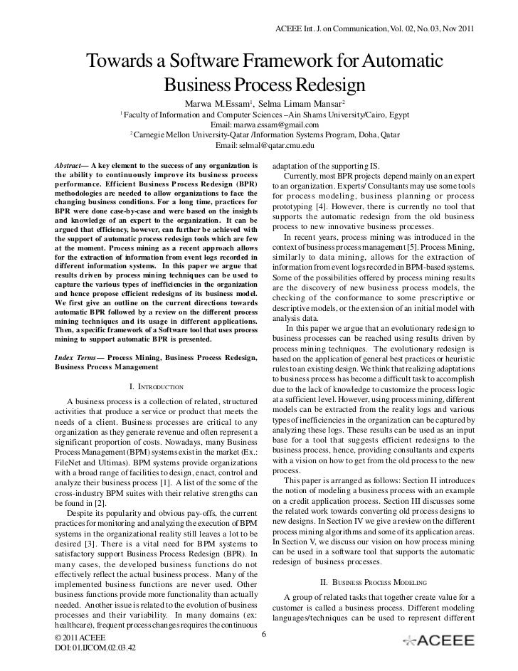 ACEEE Int. J. on Communication, Vol. 02, No. 03, Nov 2011         Towards a Software Framework for Automatic              ...