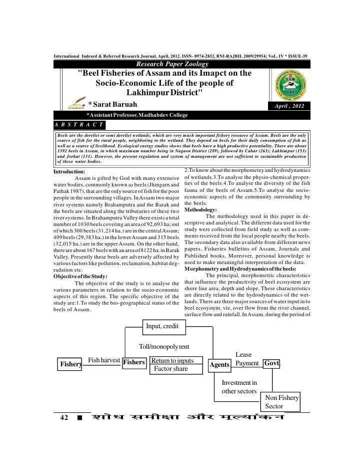 International Indexed & Referred Research Journal, April, 2012. ISSN- 0974-2832, RNI-RAJBIL 2009/29954; VoL. IV * ISSUE-39...