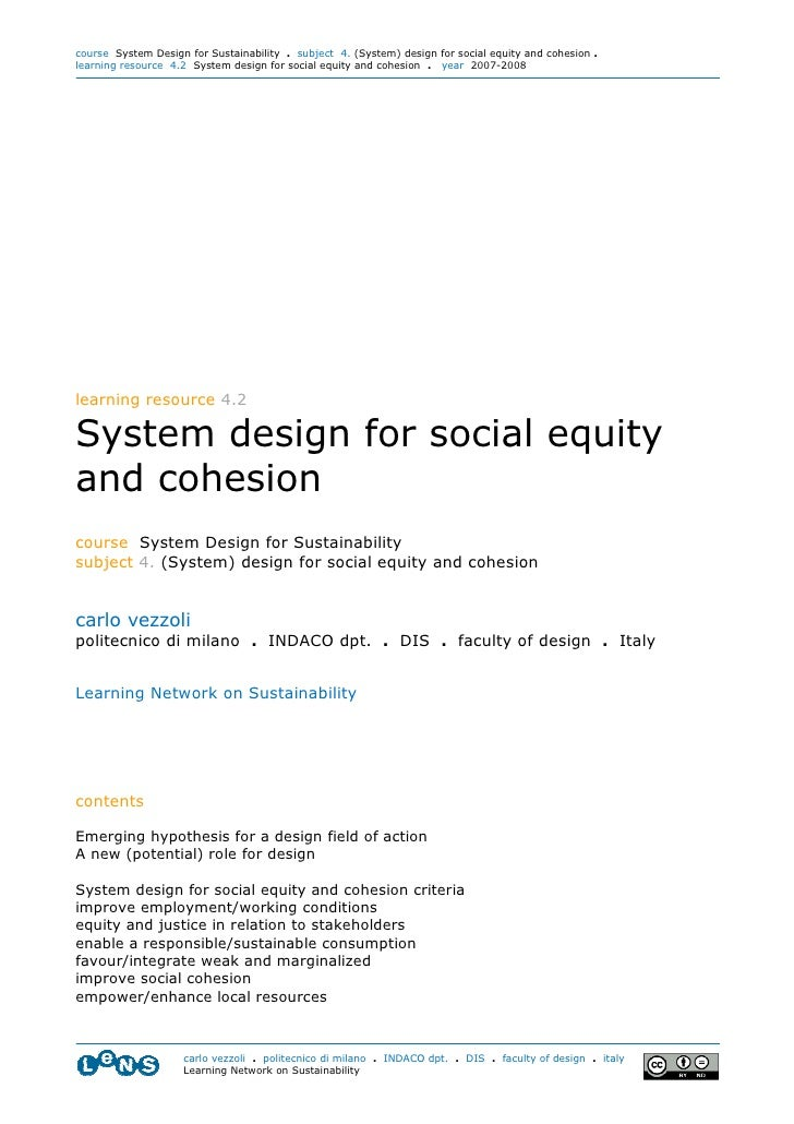 4.2 System Design Social Equity Vezzoli Polimi 07 08  3.11