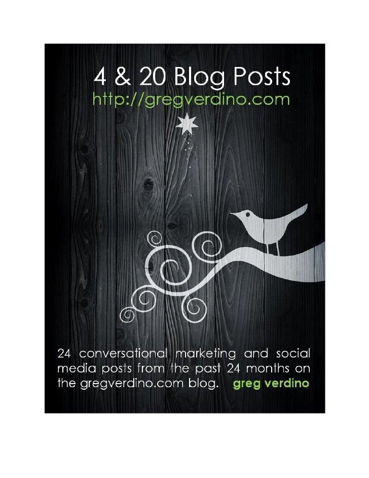 4&20 Blog Posts: a Marketing eBook