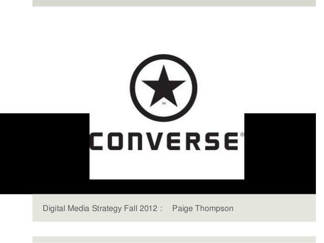 Digital Media Strategy Fall 2012 :   Paige Thompson