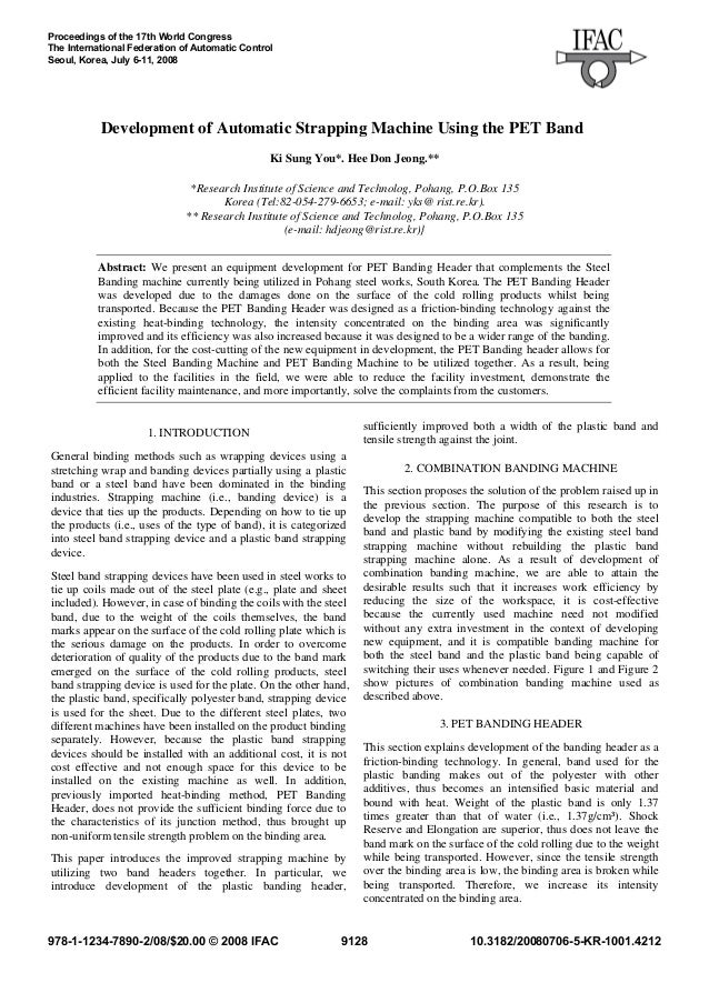Proceedings of the 17th World CongressThe International Federation of Automatic ControlSeoul, Korea, July 6-11, 2008      ...