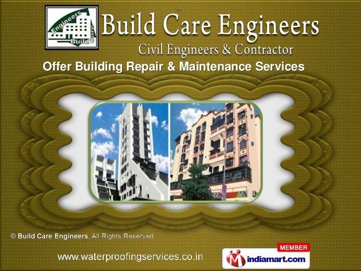 Offer Building Repair & Maintenance Services