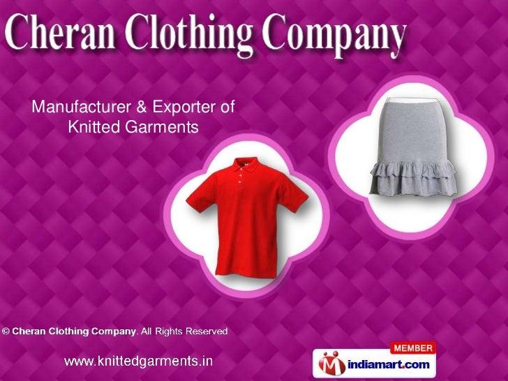Cheran Clothing Company Tamil Nadu India