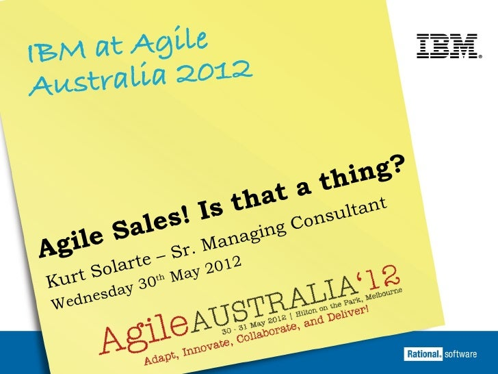 Agile Sales! Is that a Thing?
