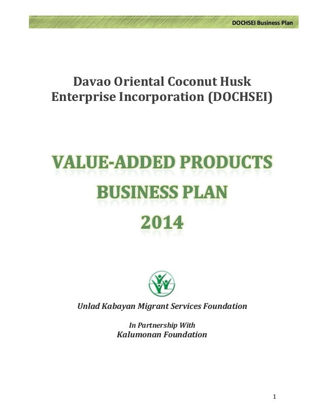 Business plan in copra buying