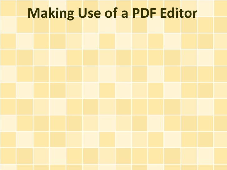 Making Use of a PDF Editor