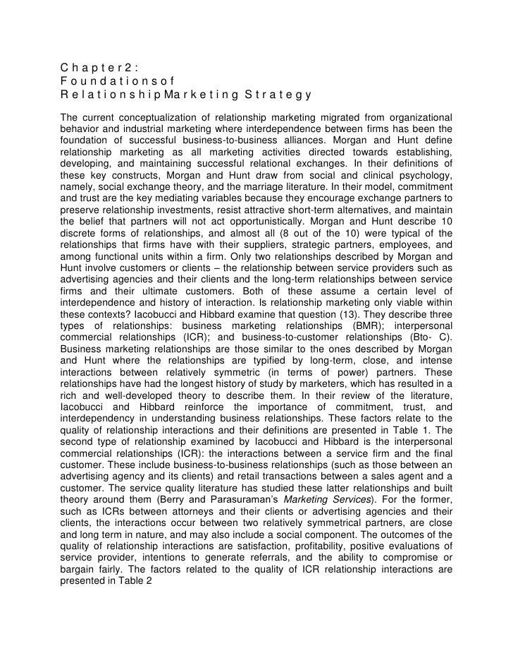 Chapter2:FoundationsofR e l a t i o n s h i p Ma r k e t i n g S t r a t e g yThe current conceptualization of relationshi...