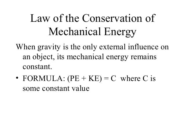 an essay on mechanical energy Background: kinetic energy is said to be the energy of motion kinetic energy can be defined through this equation: ke=12mv2 (equation 1) where m is the mass of the.