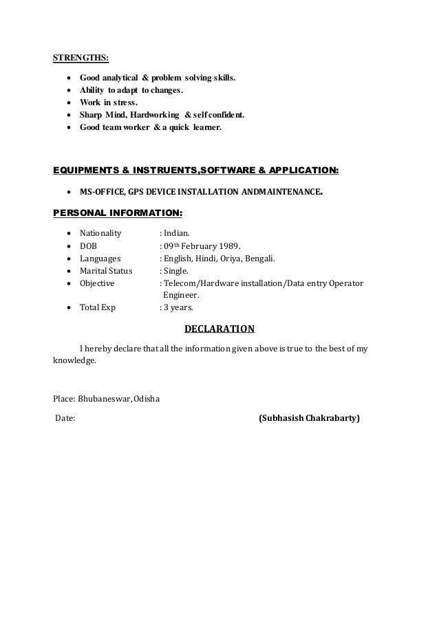 Problem solving skills for resume
