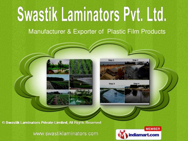 Manufacturer & Exporter of Plastic Film Products