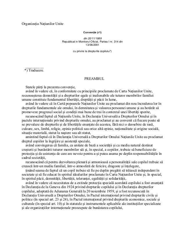 Organizaţia Naţiunilor Unite                                                Convenţie (r1)                                ...