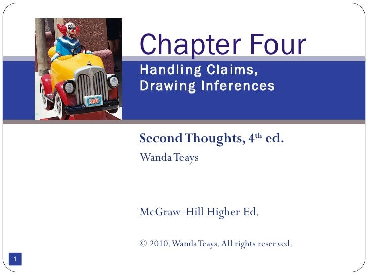 Second Thoughts, 4 th  ed. Wanda Teays McGraw-Hill Higher Ed. © 2010. Wanda Teays. All rights reserved . Chapter Four Hand...