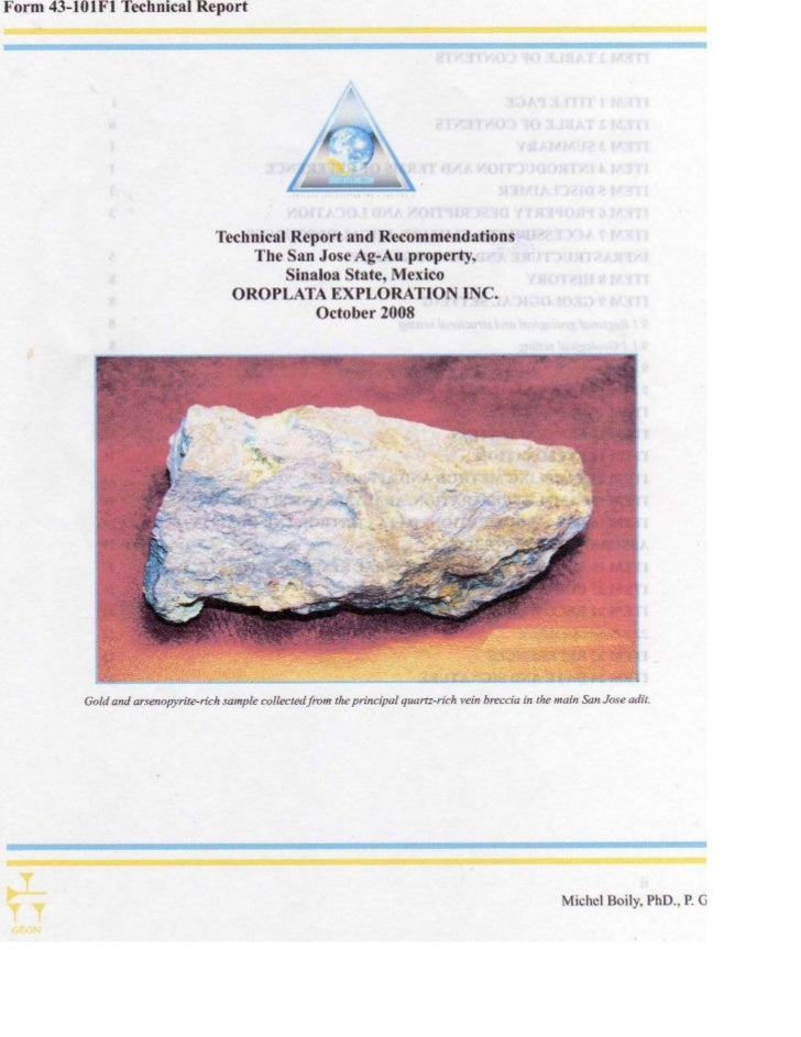 43 101 f1 san jose technical report