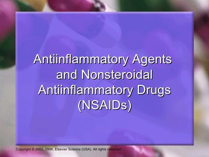 Anti-inflammatory agents and  nsaids