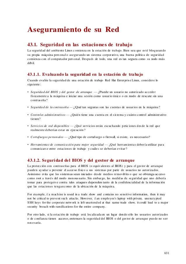 43  aseguramiento de su red