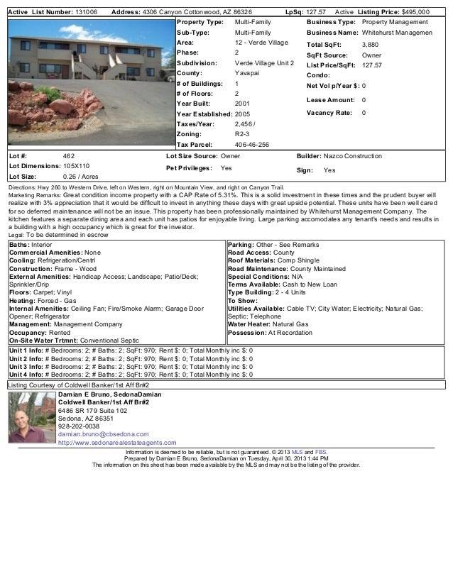 4306 Canyon Cottonwood Az