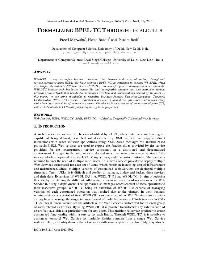 International Journal of Web & Semantic Technology (IJWesT) Vol.4, No.3, July 2013 DOI : 10.5121/ijwest.2013.4302 11 FORMA...